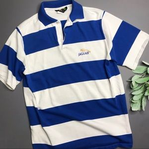 VINTAGE | sz L mens jaguar polo